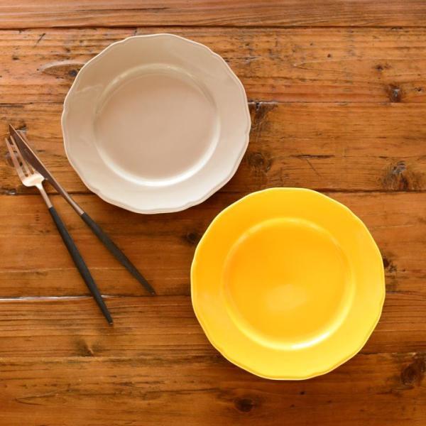 アウトレット 2color リム花プレート 19cm ケーキ皿 スイーツ皿 パン皿 取皿 プレート 洋食器 おしゃれ カフェ食器 日本製 美濃焼 おうちごはん|long-greenlabel|04