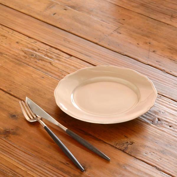 アウトレット 2color リム花プレート 19cm ケーキ皿 スイーツ皿 パン皿 取皿 プレート 洋食器 おしゃれ カフェ食器 日本製 美濃焼 おうちごはん|long-greenlabel|14