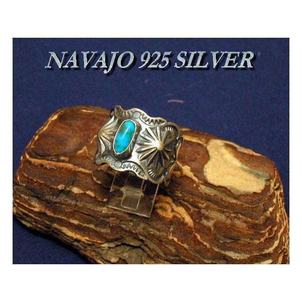 NAVAJO S・Reeves モレンチターコイズリング サイズ22号