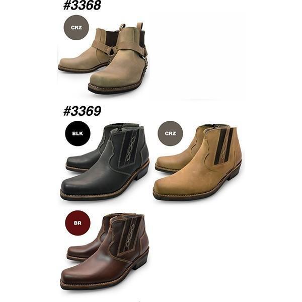 メンズ  本革 ブーツ サイドゴア、リング モンクストラップブーツ チャッカブーツ|longpshoe|04