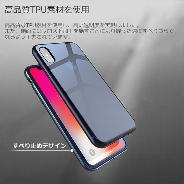 iPhone XS Max XR XS X TPU ソフト ケース 耐衝撃 保護 クリア 電波 影響 防止 アイフォン カバー 軽い looco-shop 02
