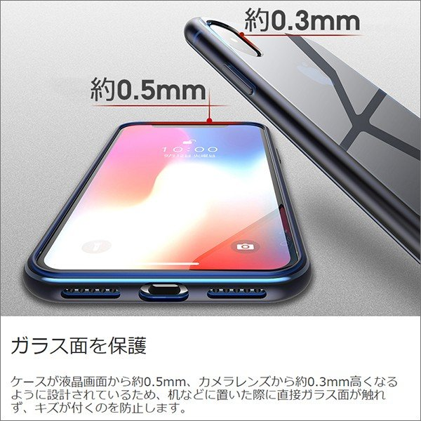 iPhone XS Max XR XS X TPU ソフト ケース 耐衝撃 保護 クリア 電波 影響 防止 アイフォン カバー 軽い looco-shop 07
