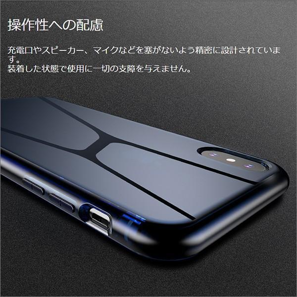 iPhone XS Max XR XS X TPU ソフト ケース 耐衝撃 保護 クリア 電波 影響 防止 アイフォン カバー 軽い looco-shop 08