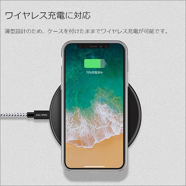 iPhone XS Max XR XS X TPU ソフト ケース 耐衝撃 保護 クリア 電波 影響 防止 アイフォン カバー 軽い looco-shop 09