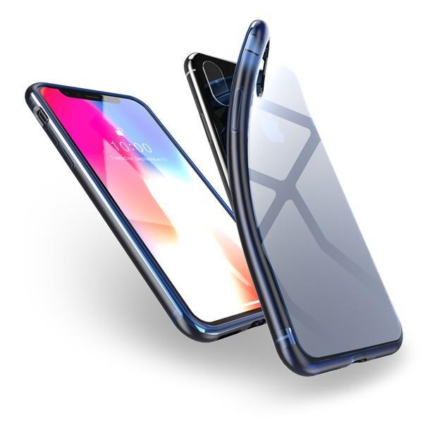 iPhone XS Max XR XS X TPU ソフト ケース 耐衝撃 保護 クリア 電波 影響 防止 アイフォン カバー 軽い looco-shop 10