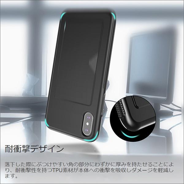iPhone 11 Pro Max XR XS Max X 8 7 6 6s Plus ケース カード収納 嵌め込み 抜群の手触り感|looco-shop|05