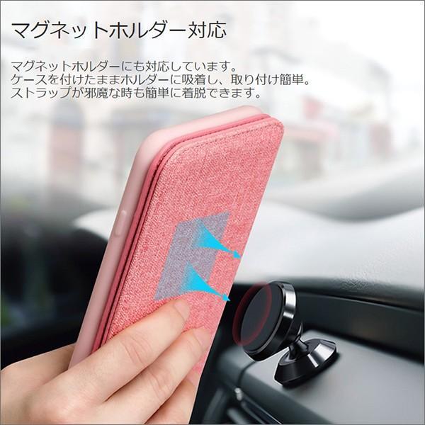 iPhone XR XS Max X 8 7 Plus 6 ネック ストラップ ミラー はめ込み カード 収納 ポケット 首かけ OL アイフォン 便利な鏡付き looco-shop 06