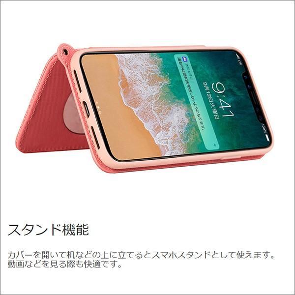 iPhone XR XS Max X 8 7 Plus 6 ネック ストラップ ミラー はめ込み カード 収納 ポケット 首かけ OL アイフォン 便利な鏡付き looco-shop 07