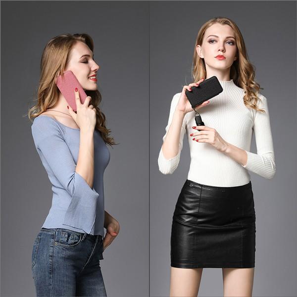 iPhone XR XS Max X 8 7 Plus 6 ネック ストラップ ミラー はめ込み カード 収納 ポケット 首かけ OL アイフォン 便利な鏡付き looco-shop 10