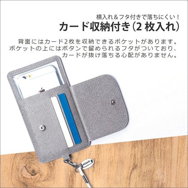 カードポケット ネックストラップ 付きスマホ ケース 首かけ ポーチ カバー カード収納 iPhone Xperia Galaxy HUAWEI AQUOS ZenFone|looco-shop|05