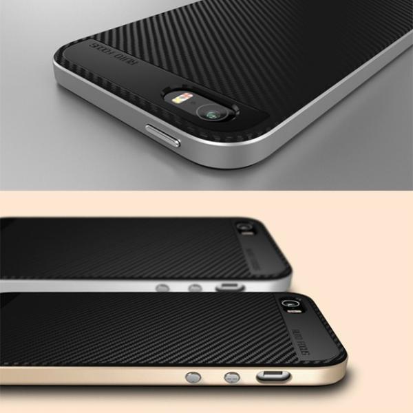 UCASE iPhone 6/6s SE/5/5s TPU+PC 軽量 二重構造 薄い 嵌め込み ストレート バンパー ハードケース シリコン ケース カバー  アイフォンケース|looco-shop|04