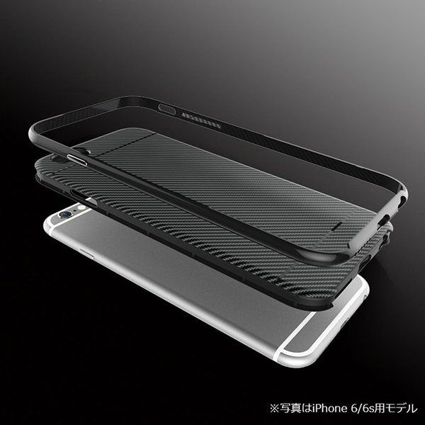 UCASE iPhone 6/6s SE/5/5s TPU+PC 軽量 二重構造 薄い 嵌め込み ストレート バンパー ハードケース シリコン ケース カバー  アイフォンケース|looco-shop|05