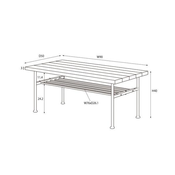 センターテーブル ローテーブル テーブル 机 つくえ 食事 食卓 北欧 北欧風 カントリー ビング 人気 木製 table コーヒーテーブル 82-624|lookit|03