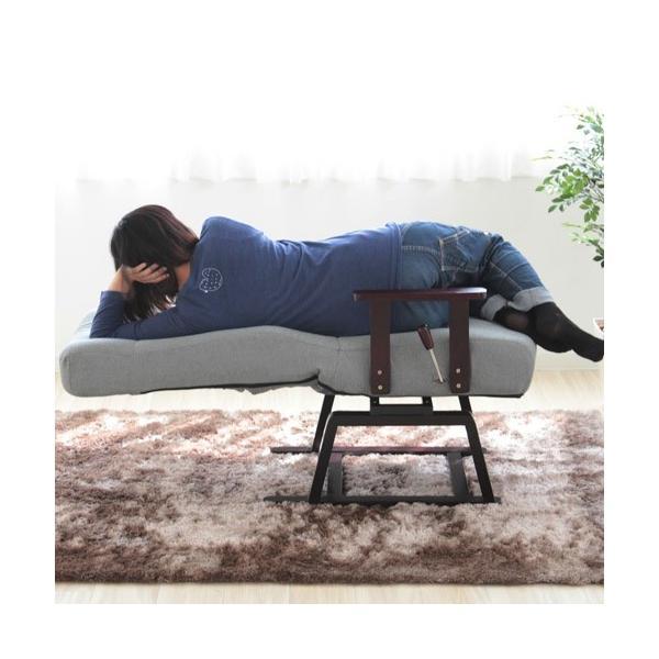 回転高座椅子 無段階 リクライニング ポケットコイル ガス式 レバー リラックスチェア 布 イス 椅子 1人掛け ソファー 送料無料 83-992-993|lookit|07