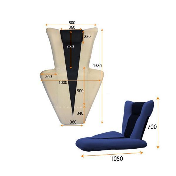 マンボウソファ デルタマンボウ 送料無料 座椅子 1人用ソファ シングルソファ 1人用チェア 布製チェア フロアチェア リビング 居間 デルタマンボウ lookit 05