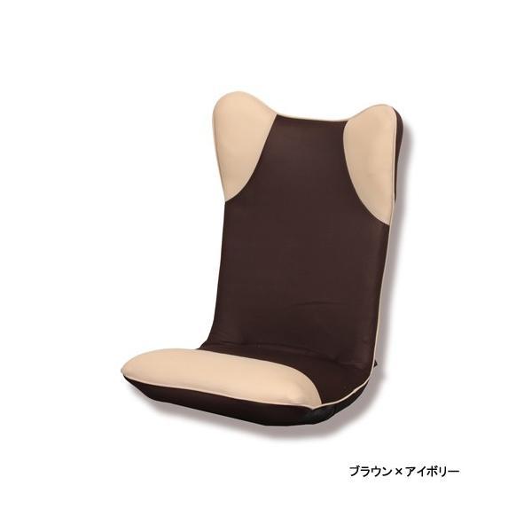 【2%OFFクーポン!8/26まで】座椅子 ハイバック 布張り座椅子 1人用チェア メッシュ生地 1人掛け シンプルチェア フロアチェア 居間 1人暮らし リビング ダンボ|lookit|04