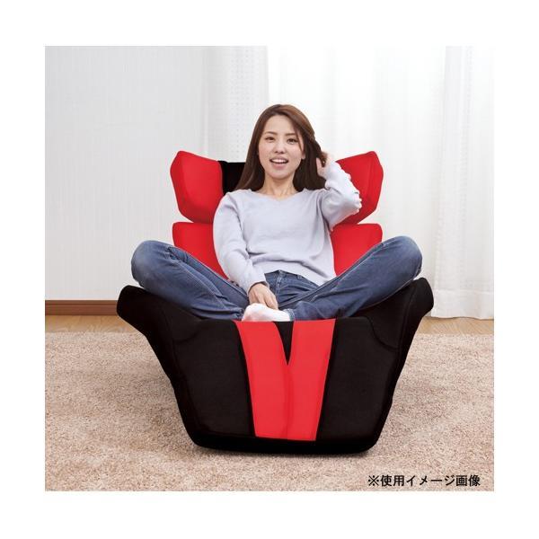 マンボウソファ グラン・デルタ・スーパーマンボウ 送料無料 リクライニング座椅子 1人掛けチェア リクライニングチェア 座椅子 フロアチェア 布製チェア F-1394|lookit|02