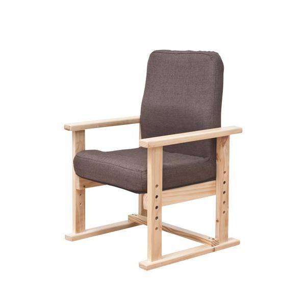 高座椅子 ハイタイプ 肘付きチェア ローチェア 背付きチェア 1人掛けチェア 布張りチェア チェア 椅子 木製肘 子供 高齢者 リビング 居間 F-1568|lookit|03
