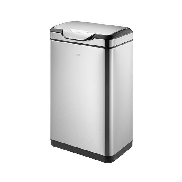 ゴミ箱 20L+20L ふた付き 分別 角型 ステンレス おしゃれ かっこいい ごみ箱 屑入れ ダストボックス キッチン カウンター 1年保証 送料無料 EK9178MT-20L-20L