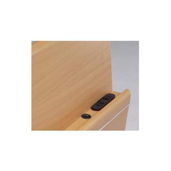 ベッドフレーム シングル 送料無料 ライト付きベッドフレーム 棚付きベッド 木製フレーム 収納付き グレイス Sベッドフレーム GRACE-BHS 【着日指定不可】|lookit|03