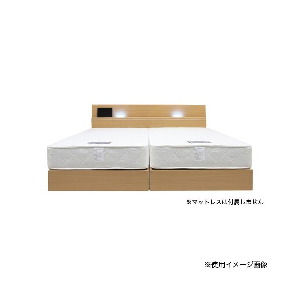 ベッドフレーム シングル 送料無料 ライト付きベッドフレーム 棚付きベッド 木製フレーム 収納付き グレイス Sベッドフレーム GRACE-BHS 【着日指定不可】|lookit|06