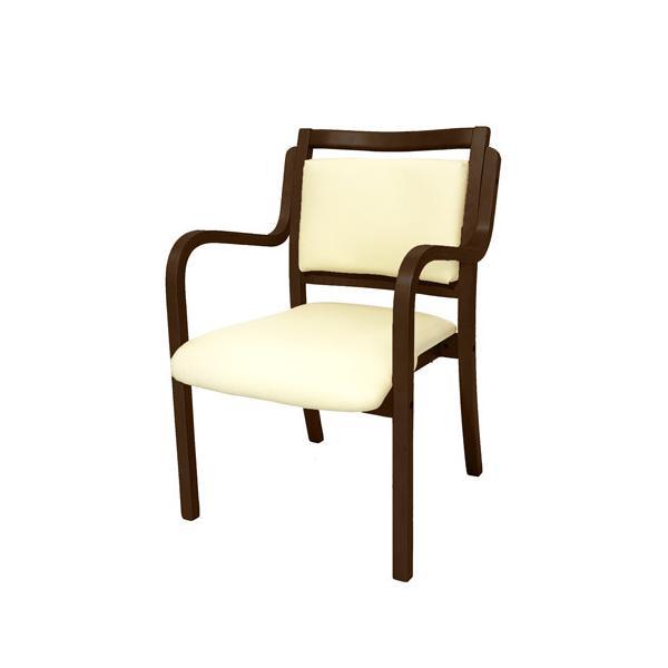 ダイニングチェア 木製 肘付き 介護用椅子 待合室 ロビー 介護サポート用 イス ANG-1H lookit 17