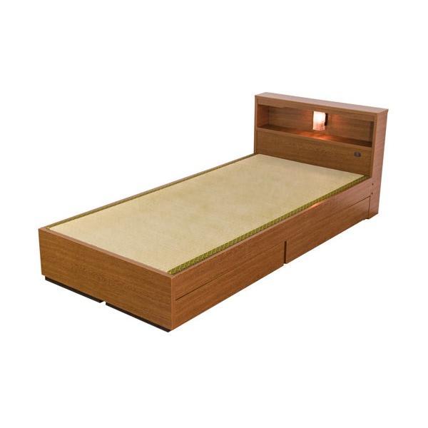 畳ベッド シングル 畳もフレームもオール日本製 防湿防虫加工 収納ベッド 収納付きベッド フロアベッド 畳 シングルベッド 和モダン おしゃれ 棚付き A331S|lookit|02