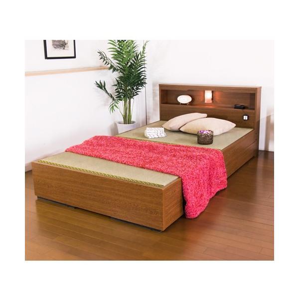 畳ベッド シングル 畳もフレームもオール日本製 防湿防虫加工 収納ベッド 収納付きベッド フロアベッド 畳 シングルベッド 和モダン おしゃれ 棚付き A331S|lookit|05