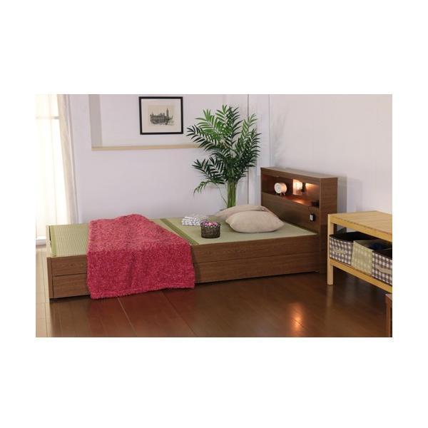 畳ベッド シングル 畳もフレームもオール日本製 防湿防虫加工 収納ベッド 収納付きベッド フロアベッド 畳 シングルベッド 和モダン おしゃれ 棚付き A331S|lookit|06