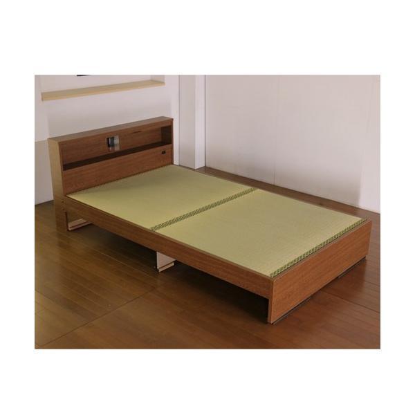 畳ベッド シングル 畳もフレームもオール日本製 防湿防虫加工 収納ベッド 収納付きベッド フロアベッド 畳 シングルベッド 和モダン おしゃれ 棚付き A331S|lookit|07