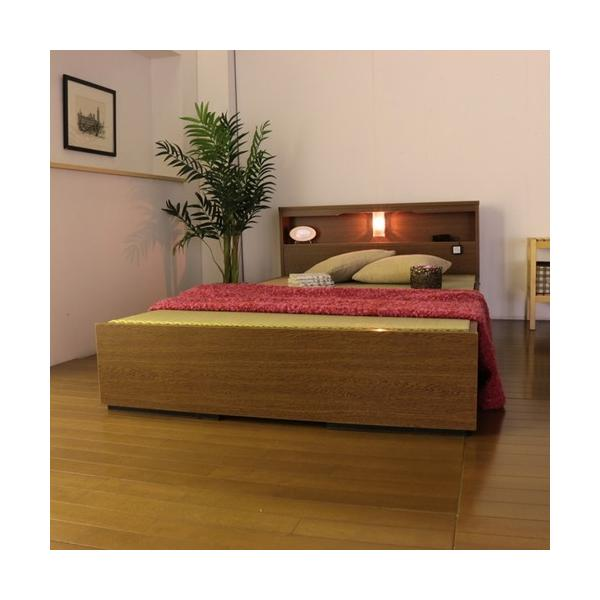 畳ベッド シングル 畳もフレームもオール日本製 防湿防虫加工 収納ベッド 収納付きベッド フロアベッド 畳 シングルベッド 和モダン おしゃれ 棚付き A331S|lookit|08