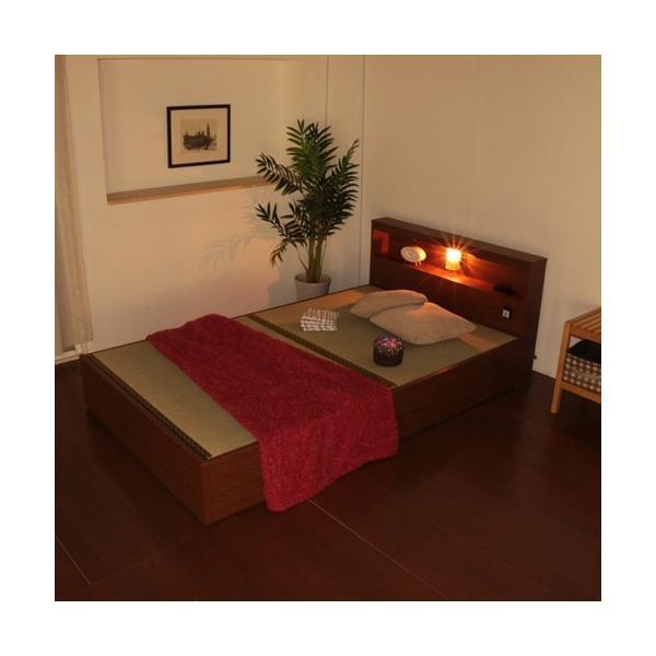 畳ベッド シングル 畳もフレームもオール日本製 防湿防虫加工 収納ベッド 収納付きベッド フロアベッド 畳 シングルベッド 和モダン おしゃれ 棚付き A331S|lookit|09