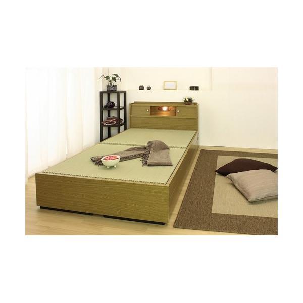 畳ベッド シングル 畳もフレームもオール日本製 防湿防虫加工 引き出し付き 照明付き 日本製 ベッド 国産 介護ベッド タタミベッド 収納付きベッド A151S|lookit|03
