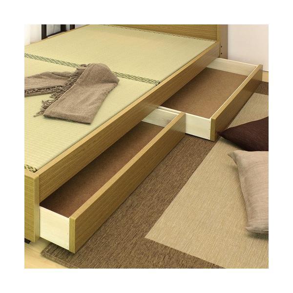 畳ベッド シングル 畳もフレームもオール日本製 防湿防虫加工 引き出し付き 照明付き 日本製 ベッド 国産 介護ベッド タタミベッド 収納付きベッド A151S|lookit|06