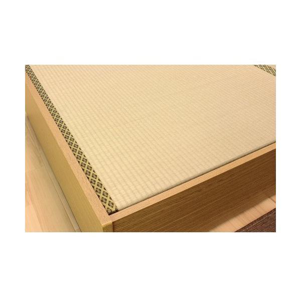 畳ベッド シングル 畳もフレームもオール日本製 防湿防虫加工 引き出し付き 照明付き 日本製 ベッド 国産 介護ベッド タタミベッド 収納付きベッド A151S|lookit|08