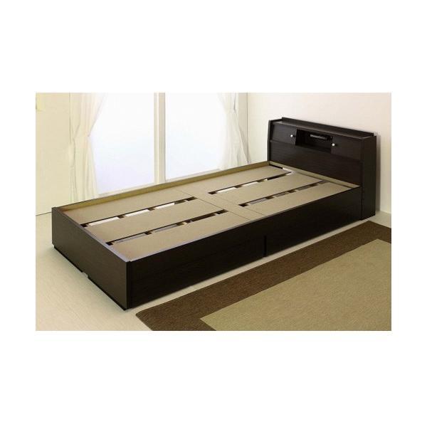 畳ベッド シングル 畳もフレームもオール日本製 防湿防虫加工 引き出し付き 照明付き 日本製 ベッド 国産 介護ベッド タタミベッド 収納付きベッド A151S|lookit|09
