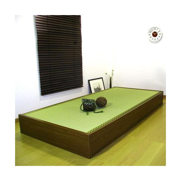 畳ベッド セミシングル 収納付き 防湿防虫加工 日本製 収納ベッド 収納付きベッド フロアベッド 低床 ベッド 畳 収納 人気 ローベッド D-62|lookit|02