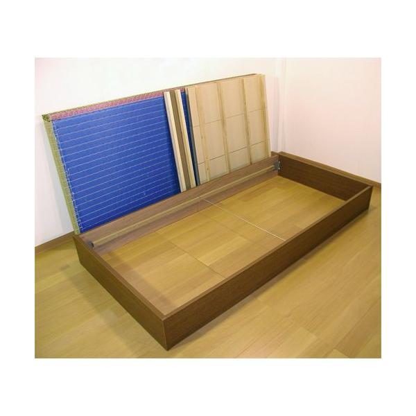 畳ベッド セミシングル 収納付き 防湿防虫加工 日本製 収納ベッド 収納付きベッド フロアベッド 低床 ベッド 畳 収納 人気 ローベッド D-62|lookit|03