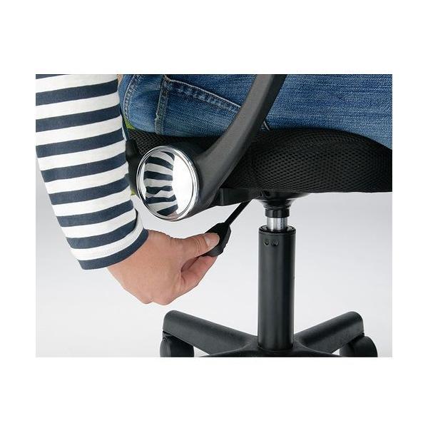 【 法人 送料無料 】 オフィスチェア 肘付き 椅子 肘掛 メッシュチェア パソコンチェア デスクチェア 会社 いす イス 事務椅子 Fハンター肘付 アーム VMC-29AR|lookit|15