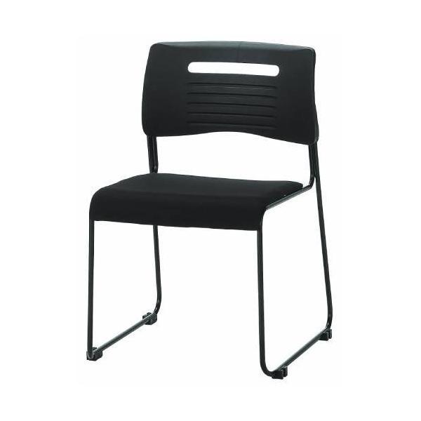 【法人限定】 ミーティングチェア 布張り 積み重ねOK 4色展開 ブラック ライム オレンジ ブルー スタッキングチェア 会議用椅子 会議椅子 会議用チェア PMC-430|lookit|02