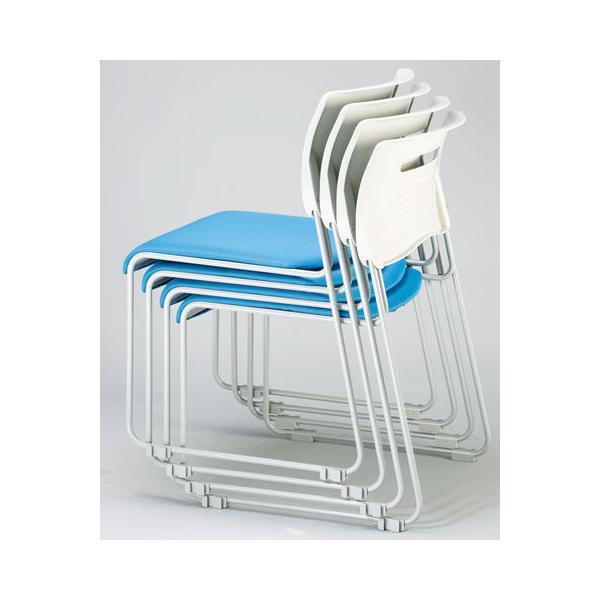 【法人限定】 ミーティングチェア 布張り 積み重ねOK 4色展開 ブラック ライム オレンジ ブルー スタッキングチェア 会議用椅子 会議椅子 会議用チェア PMC-430|lookit|04