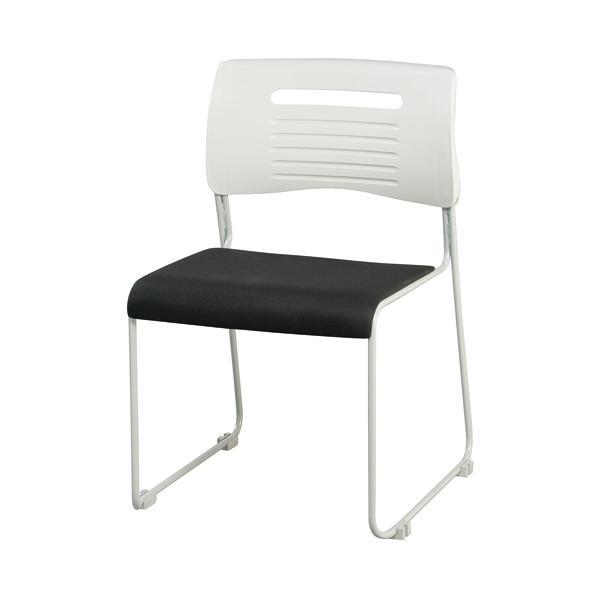 【法人限定】 ミーティングチェア 布張り 積み重ねOK 4色展開 ブラック ライム オレンジ ブルー スタッキングチェア 会議用椅子 会議椅子 会議用チェア PMC-430|lookit|05