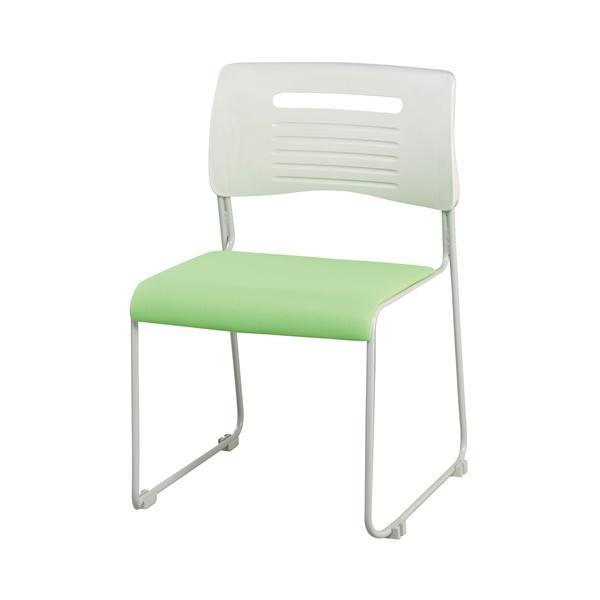 【法人限定】 ミーティングチェア 布張り 積み重ねOK 4色展開 ブラック ライム オレンジ ブルー スタッキングチェア 会議用椅子 会議椅子 会議用チェア PMC-430|lookit|06