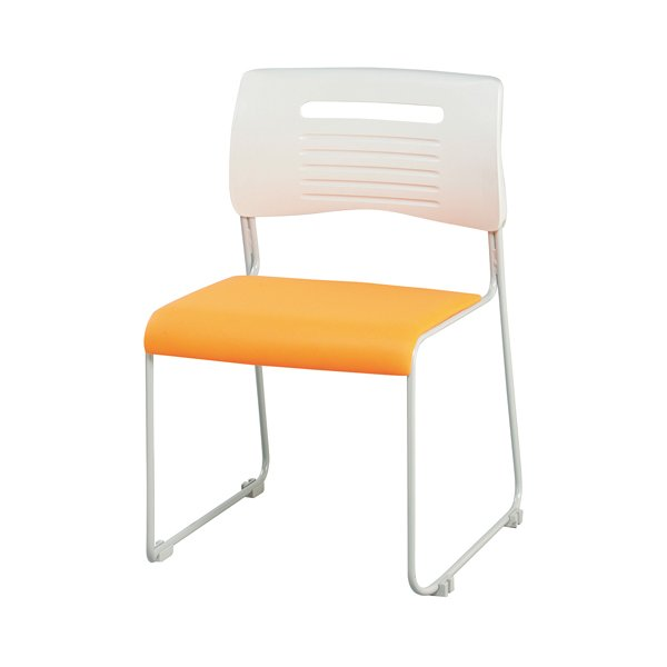 【法人限定】 ミーティングチェア 布張り 積み重ねOK 4色展開 ブラック ライム オレンジ ブルー スタッキングチェア 会議用椅子 会議椅子 会議用チェア PMC-430|lookit|07