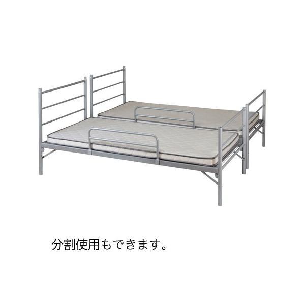 【 法人 送料無料 】 2段ベッド 寝室 睡眠 簡易 シングル 二段ベッド ふとん 家具 インテリア シンプル スチールベッド シンプル 組立式 仮眠 ベッド EBD-B2 lookit 02