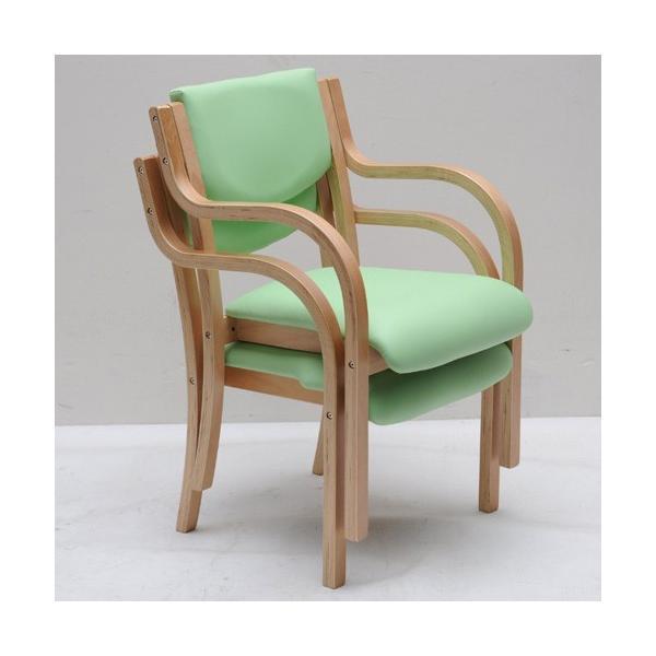 ダイニングチェア 木製 完成品 肘付き 椅子 肘掛 スタッキングチェア ダイニング チェア 介護 病院 待合室 いす 木製椅子 おしゃれ ダイニングチェアー LDCH-1 lookit 10