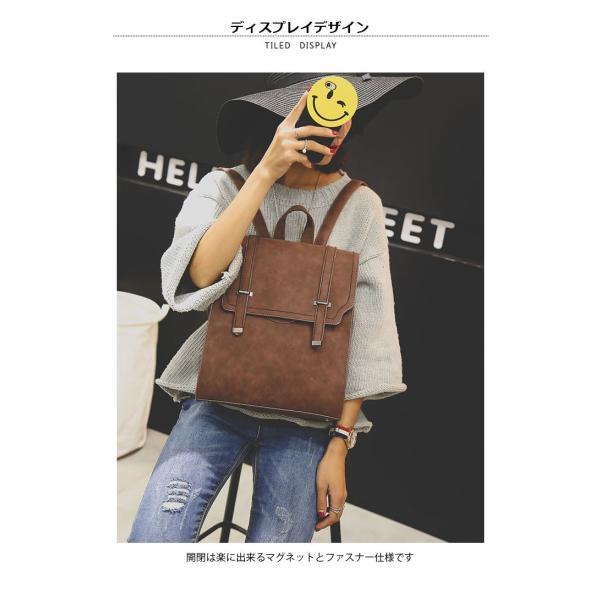 サッチェルバッグ レディース リュックサック カジュアルリュック 鞄 カバン A4サイズ対応 4カラー 大人可愛い|lookume|03