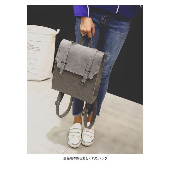 サッチェルバッグ レディース リュックサック カジュアルリュック 鞄 カバン A4サイズ対応 4カラー 大人可愛い|lookume|05