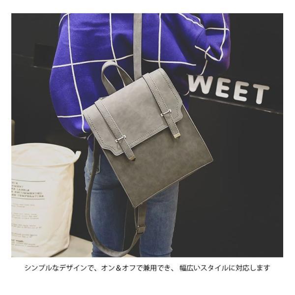 サッチェルバッグ レディース リュックサック カジュアルリュック 鞄 カバン A4サイズ対応 4カラー 大人可愛い|lookume|06