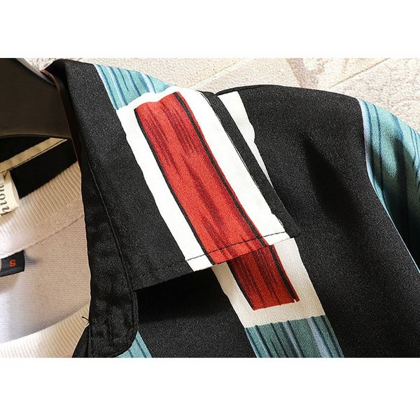 シャツ メンズ カジュアルシャツ ストライプ柄 長袖 ストライプシャツ 長袖シャツ 薄手 通気性 シャツアウター 羽織れる トップス お洒落 lookume 06